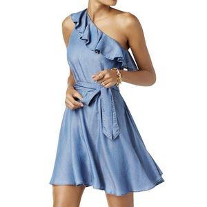 Michael Kors | Cadet Blue Single Shoulder Dress